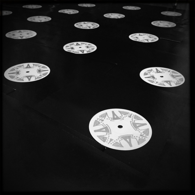 hand-stamped 'Instead' vinyl